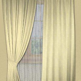 Розочки (беж) 145*280 см — комплект штор