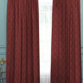 Розы мелкие (шоколад) 145*280 см — комплект штор