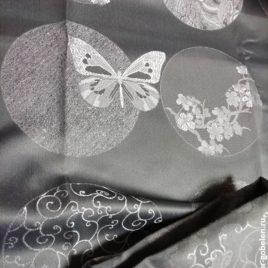 Сакура (серый) — ткань портьерная
