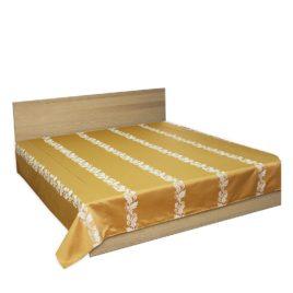 Арлон (золото) 250*220 см — покрывало декоративное