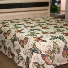 Бабочки 250*220 см — покрывало декоративное