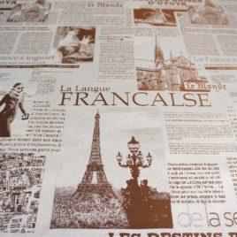 Газета (коричневый) — ткань портьерная