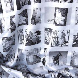 Инстаграм (белый) — ткань портьерная