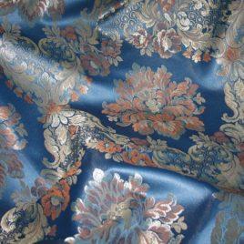 Версаль (синий) 145*280 см — комплект штор