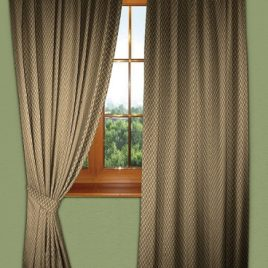 Сетка (коричневая) 145*280 см — комплект штор