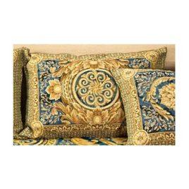 Версаль (синий) 45х65 см — наволочка декоративная