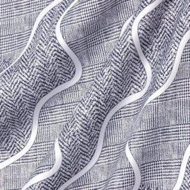 Волна (серый) — ткань портьерная