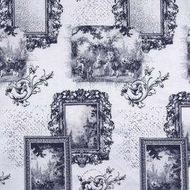 Галерея (синий) — ткань портьерная
