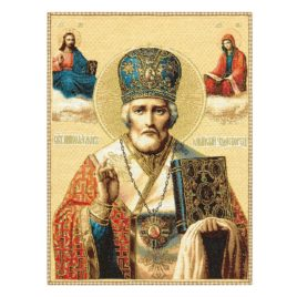 Святой Николай Чудотворец (38х47 см) — гобелен без рамки
