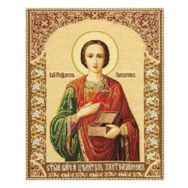 Святой Пантелеймон Целитель (38х47 см) — гобелен без рамки