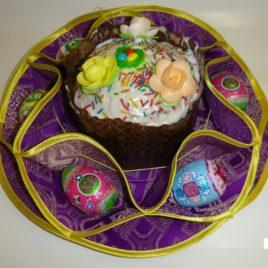 Хризантема (фиолетовая) d38 см — салфетка пасхальная