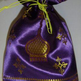 Мешочек Пасхальный (фиолетовый) 14*22 см
