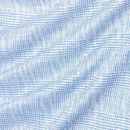 Клетка (голубой) 145х280 см — комплект штор