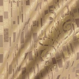Климт (беж) 145*280 см — комплект штор