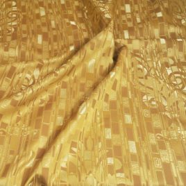 Климт (золото) 145х280 см — комплект штор