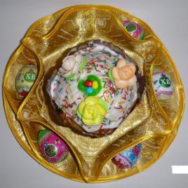 Хризантема (золото) d38 см — салфетка пасхальная