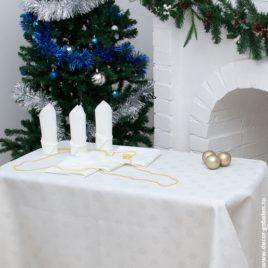Волшебство (белый) 150х210 см — комплект скатерть с салфетками