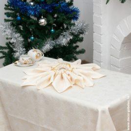 Волшебство (беж) 150х210 см — комплект скатерть с салфетками