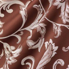 Крупный лист (шоколад) 145*280 см — комплект штор
