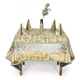Оливия (160х160 см) — комплект (скатерть с салфетками)