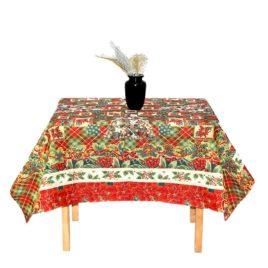 Рождественская пуансеттия (160х160 см) — комплект (скатерть с салфетками)