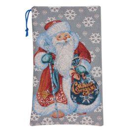 Дед Мороз (24х40 см) — мешочек декоративный