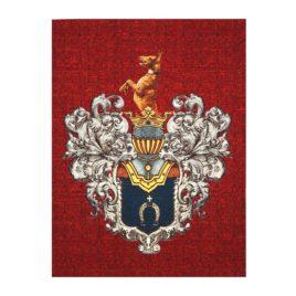 Геральдика Стрешневых (75х100 см) — панно гобеленовое на подкладке