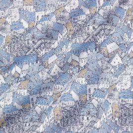 Крыши (синий) 145*280 см — комплект штор