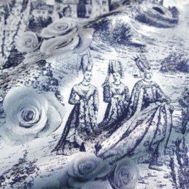 Легенда (синий) 145х280 см — комплект штор