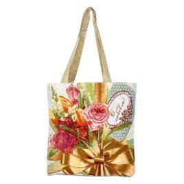 Роза с любовью (35х33 см) — сумка декоративная