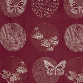 Сакура (бордо) 145х260 см — комплект штор