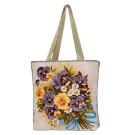 Анютин букет (35х33 см) — сумка декоративная