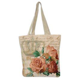 Королевская роза (35х33 см) — сумка декоративная