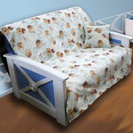 Ромашки (с шинилом) 220х160 см — накидка на диван