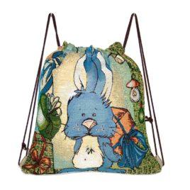 Праздничный кролик (35х31 см) — рюкзак декоративный