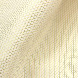 Сеточка мелкая (белый с золотом) 145х280 см — комплект штор