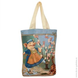 Дуся (37х42 см) — сумка гобеленовая