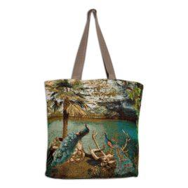 Голубое озеро (32*35 см) — сумка декоративная