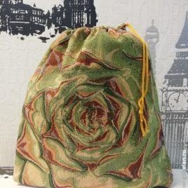 Каменный цветок (35х35 см) — мешочек гобеленовый
