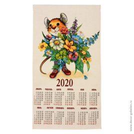 Букет (36×67 см) — календарь гобеленовый 2020 год