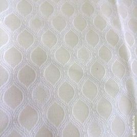 Мелия (белый) 145х280 см — комплект штор