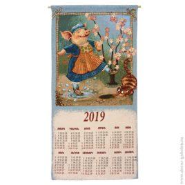 Дуся (36х73 см) — календарь-саше гобеленовый