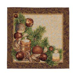 Новогодняя (38х38 см) — салфетка декоративная