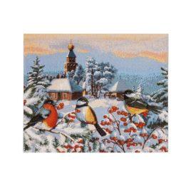 Зимнее утро (35х25 см) — салфетка декоративная