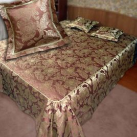 Айрин Голд (шоколад) 250х220 см — покрывало декоративное