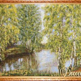 Берёзовый ситец (92х54 см) — картина в багете
