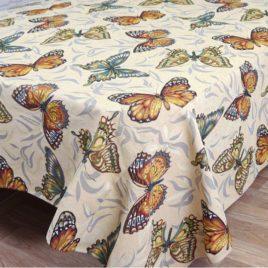 Бабочки (150х160 см) — скатерть гобеленовая
