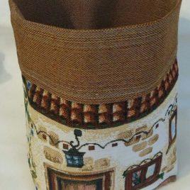 Домики (24х20 см) — корзинка текстильная