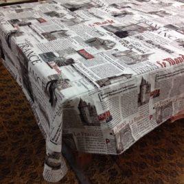 Газета (235х235 см) — скатерть декоративная