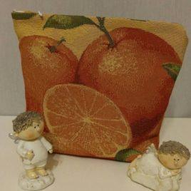 Апельсин (23х19 см) — косметичка гобеленовая
